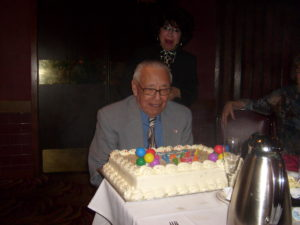 "Emmett Yazez on his 90th Birthday, Mancini's Char House, St. Paul, MN,March 3, 2010, declared ""Emmett J. Yanez Day"" by Mayor Chris Coleman."