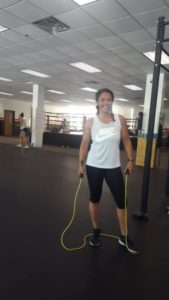 Smiling with jump rope, Mia 'St. Paul' Wanna will whip you into shape.